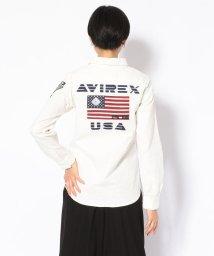 AVIREX/SH/ストレッチ ツイル パッチドシャツ/ SG STRETCH PATCHED SHIRT/502667231