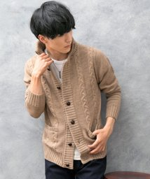 TopIsm/ドンキー衿&ショールカラーケーブルニットカーディガン/502668783