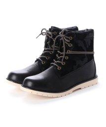 STYLEBLOCK/スタイルブロック STYLEBLOCK 4cm防水配色ブーツ (ブラック)/502669015