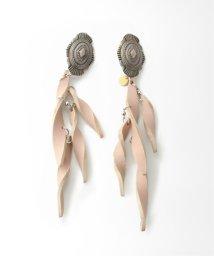 Spick & Span/【THE DALLAS】leather twist earring /  レザーツイストイヤリング/502670587