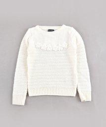 BeBe/【ニコプチ掲載】花モチーフ付セーター/502574657