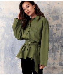 ANAP/ベルト付ビッグポケットツイルシャツジャケット/502618067