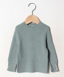 petit main/袖くるみボタンインナーニットTシャツ/502647474