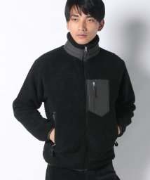 STYLEBLOCK/ポケット切り替えジップアップシープボアブルゾンボアジャケット/502648667