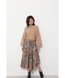 rienda/Ethnic Pattern Flare Knit OP/502671223