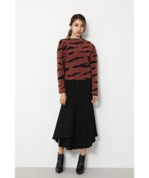 rienda/Zebra Pattern Knit TOP/502671248