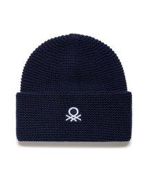 BENETTON (women)/ループロゴ入り柄編みニットワッチキャップ・ニット帽/502655328