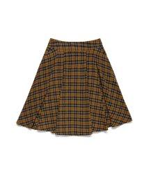 BENETTON (women)/ウール混チェックガーゼAラインスカート/502663555