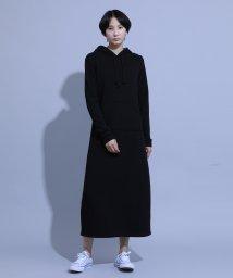 aimoha/裏起毛マキシ丈ロングパーカーワンピース/502670022