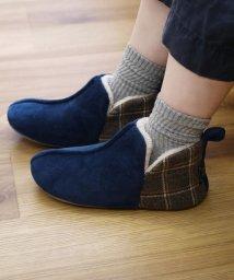 En Fance/かかと切替ブーツ Mサイズ ネイビー/502672829