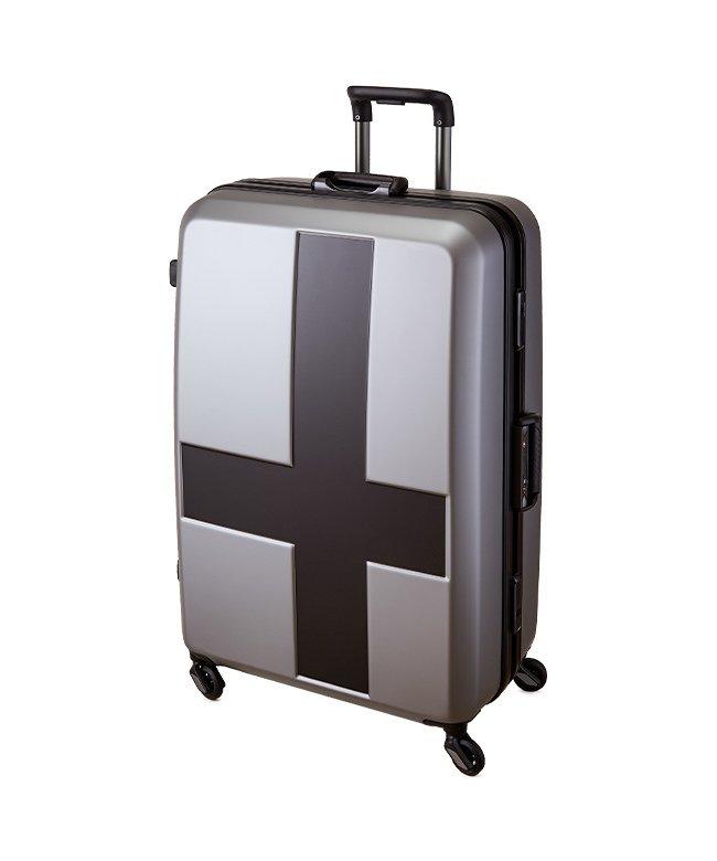 カバンのセレクション イノベーター クロスペイント スーツケース 90L Lサイズ フレームタイプ innovator INV68T ユニセックス ブラック フリー 【Bag & Luggage SELECTION】