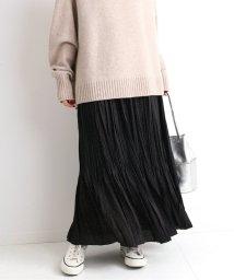 IENA/ドットフラワーロングプリーツスカート◆/502673643
