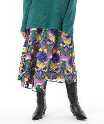GRACE CONTINENTAL/オットマン刺繍ラップスカート/502674168
