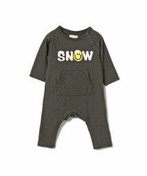 こどもビームス/6°vocale / Snow ロゴロンパース 19(60~80cm)/502578307
