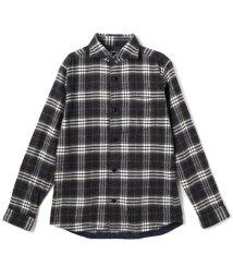 HIDEAWAYS NICOLE/チェック柄ホリゾンタルカラーシャツ/502623889
