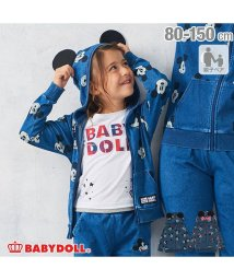 BABYDOLL/親子お揃い ディズニー ニットデニムジップパーカー 2987K (ボトム別売)/502647138
