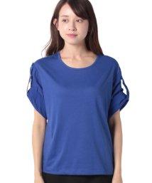 BENETTON (women)/配色ロールアップスリーブオーバーサイズTシャツ・カットソー/502668612