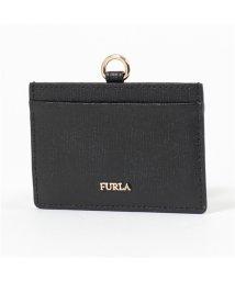 FURLA/993511 PAR4 B30 LINDA S BADGE HOLDE レザー カードケース パスケース ONYX レディース/502671995