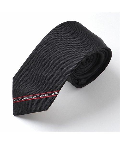 GIVENCHY(ジバンシィ)/J2632 1 イタリア製 シルク ネクタイ ナロータイ ブラック メンズ/310911913
