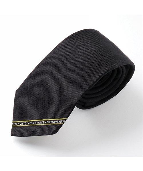 GIVENCHY(ジバンシィ)/J2632 2 イタリア製 シルク ネクタイ ナロータイ ブラック メンズ/310911914
