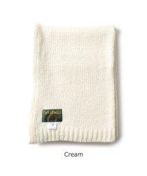 TWEED MILL/Chunky Knit Scarf ウール混 リブ マフラー ストール 無地 カラー3色 レディース/502672023
