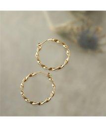 LOUISE DAMAS/LD ESM 3 Esmeralda エスメラルダ Large twisted hoop earrings ピアス フープ ゴールド レディース/502672081