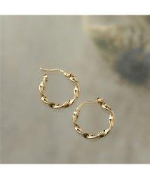 LOUISE DAMAS/LD ESM 4 Esmeralda エスメラルダ Small twisted hoop earrings ピアス フープ ゴールド レディース/502672082