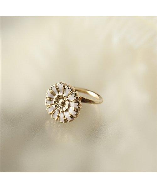 LD HEN 8 Henriette アンリエット Small ring リング 指輪 フラワー ゴールド レディース