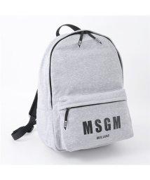 MSGM/2440 2540 MZ02 030 スウェット バックパック リュック バッグ デイパック ロゴプリント グレー /502672112