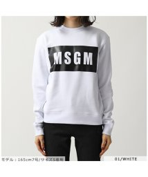 MSGM/2541 2741 MDM96 長袖 スウェット トレーナー ボックスロゴ 裏起毛 カラー4色 レディース/502672113