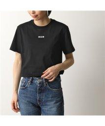 MSGM/MDM100 半袖 Tシャツ カットソー クルーネック 丸首 ちびロゴ カラー2色 レディース/502672122
