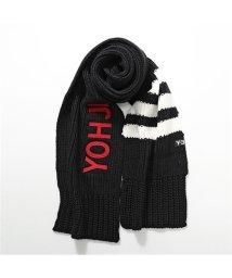 Y-3/adidas アディダス YOHJI YAMAMOTO コラボ FH9287 SCARF ウール混 リブニット マフラー BLACK メンズ/502672155