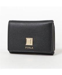 FURLA/1023222 PBP1 Q26 MIMIS TRI-FOLD レザー 三つ折り財布 ミニ財布 豆財布 ONYX レディース/502672162