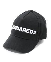 DSQUARED2/D2 BCM0028 05C00001 M063 立体刺繍 ベースボールキャップ 帽子 ダメージ加工 カラーNERO-BIANCO メンズ/502672179