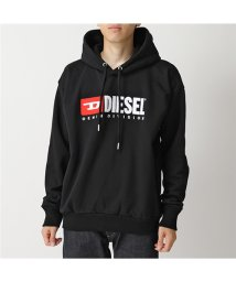 DIESEL/00SH34 0CATK S-DIVISION FELPA スウェット プルオーバー パーカー 裏起毛 ロゴ刺繍パッチ 900/ブラック メンズ/502672182