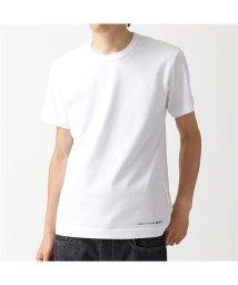 COMME des GARCONS/W27111 クルーネック 半袖 Tシャツ ワンポイントロゴ カットソー WHITE メンズ/502672198