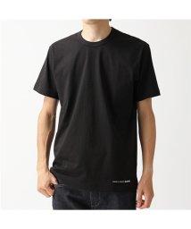 COMME des GARCONS/W27111 クルーネック 半袖 Tシャツ ワンポイントロゴ カットソー BLACK メンズ/502672199