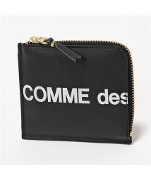 COMME des GARCONS/SA3100HL HUGE LOGO L字ファスナー コインケース ミニ財布 小銭入れ BLACK /502672201