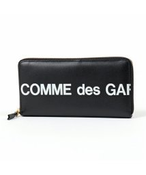 COMME des GARCONS/SA0110HL HUGE LOGO レザー ラウンドファスナー長財布 BLACK メンズ/502672202