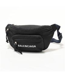 BALENCIAGA/569978 9F91X HPG1X 1090 ウィール ベルトバッグ S ナイロン ボディバッグ BLACK-NAVYBLUE /502672205