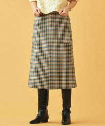 MACPHEE/ウールフランネル トラペーズスカート/502675015