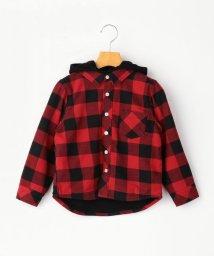 SHIPS KIDS/SHIPS KIDS:フード付き ネルチェック シャツ(100~130cm)/502677299