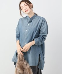 Plage/Chambray Band Collar シャツ/502677503