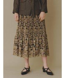 Lily Brown/フラワー刺繍プリーツスカート/502678089