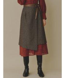 Lily Brown/パイピングラップスカート/502678091