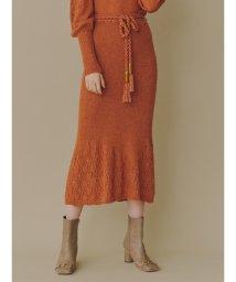 Lily Brown/透かし柄編みニットスカート/502678119