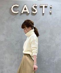 CAST:/【TVドラマ着用】【Oggi12月号掲載】ローゲージボリュームタートルニット/502678793