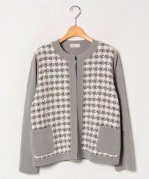 GUEST JOCONDE/【大きいサイズ】NADIA 異素材使いジャケット/502668907