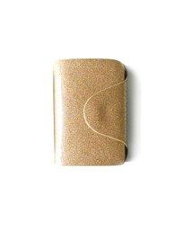 exrevo/カードケース 名刺入れ レディース 40枚 大容量 エナメル シンプル ラメ レザー 大人 上品 ポイントカード クレジットカード かわいい ホルダー ゴールド/502677370