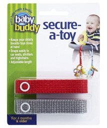 Baby Buddy/Baby Buddy ベビーバディ おもちゃストラップ2色各1本組 レッド/グレー /502677580
